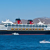 The Disney cruise ship in port in Cabo