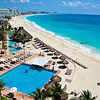 The view of Cancun's hotel zone from the Westin Resort & Spa