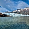 Patagonia ice field (Grey's glacier), on Grey's Lake, Torres del Paine National Park, Patagonia, Chile