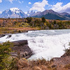 Waterfall on the Rio del Torres, Torres del Paine National Park, Patagonia, Chile