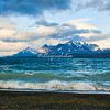 Lake Sarmiento on a windy day, Torres del Paine National Park, Patagonia, Chile