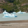 Icebergs floating in Lago Grey, Torres del Paine National Park, Patagonia, Chile