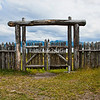 South gate, Fort Bulnes, Punta Arenas, Patagonia, Chile