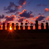 Easter Island The 15 moai of Tongariki at sunrise