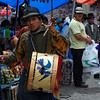 Otavalo Market- The drummer does not like to be photographed