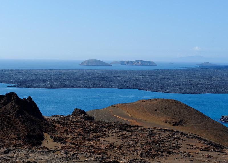 Bartolome Island - View from Central Volcano towards Sullivan Bay Lava Flow