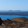 Bartolome Island - View from Central Volcano towards Sullivan Bay Lava Flow