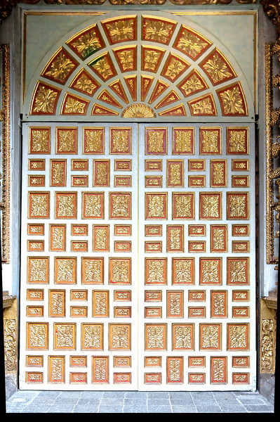 Quito -Door of Jesuit Church