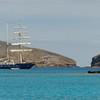 Sail Ship with peculiar rigging near Chino Sombrero