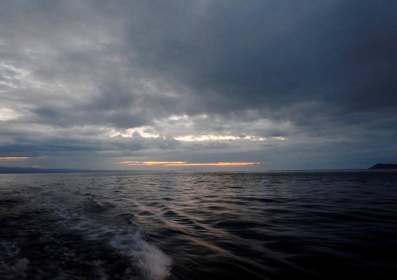 Between Santa Cruz (left) and Daphne (right) Islands