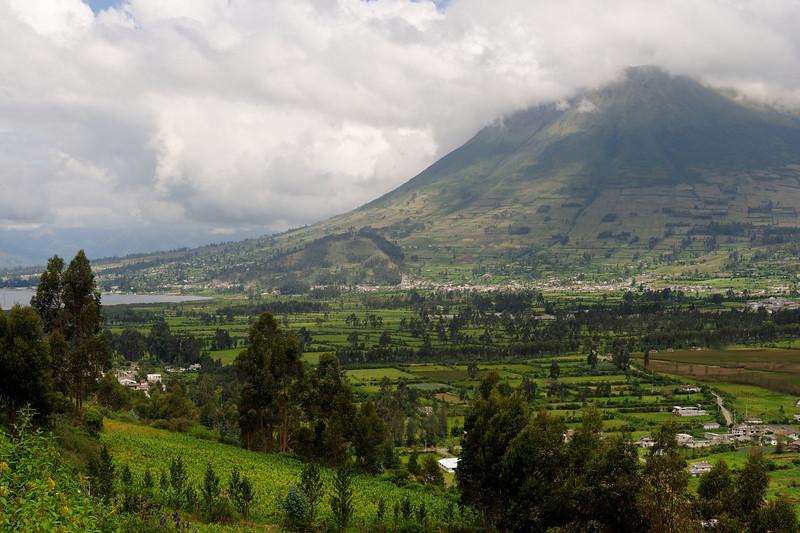 Farmland at a volcano