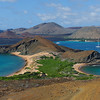 Bartolome Island - View from Central Volcano towards Santiago Island