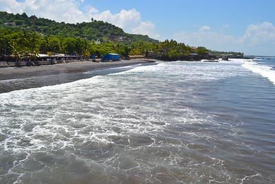 Local side beach view