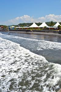 Tourist side beach view