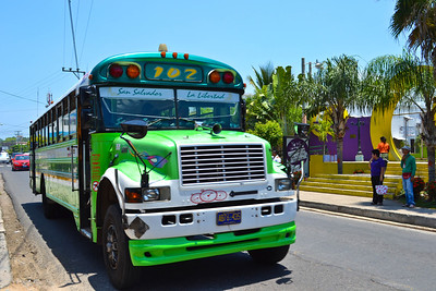 Old school buses make for colorful local transportation
