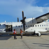 Boarding my first Taca flight in Roatan