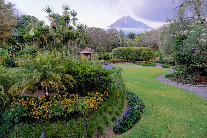 View of Volcano from the grounds of Quinta de las Flores