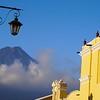 View of Fuego from main street, Antigua Guatemala