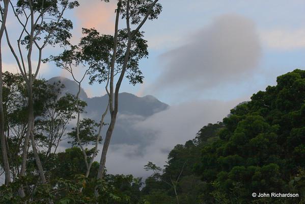 Pico Bonito in the evening