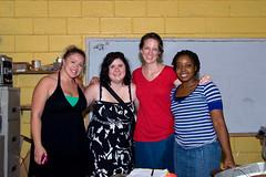 The Galavanting Girls and Darla the teacher