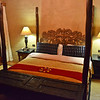 Hand-crafted four poster bed