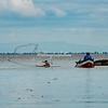 A fisherman casting his net, Lake Nicaragua