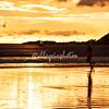 Running on the beach at sunset, Morgan's Rock, Nicaragua