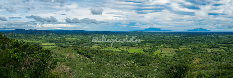 Looking towards Ometepe and its twin volcanoes