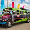 A repurposed American school bus, Rivas, Nicaragua
