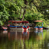 Boats moored along Las Isletas, Lake Nicaragua near Granada