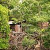 Make-shift housing on an island in Lake Nicaragua