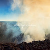 Looking into the steaming crater of the Masaya Volcano near Granada