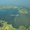 Aerial photograph, Las Isletas, Lake Nicaragua near Granada