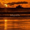 Silhouette of fishing boat, sunset, Morgan's Rock, Nicaragua