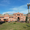 Casa Rosada, Buenos Aires - In the 19th century there were two opposing partyies, red and white. To reconcile the two opponents, the president mixed the colors and painted the place pink.
