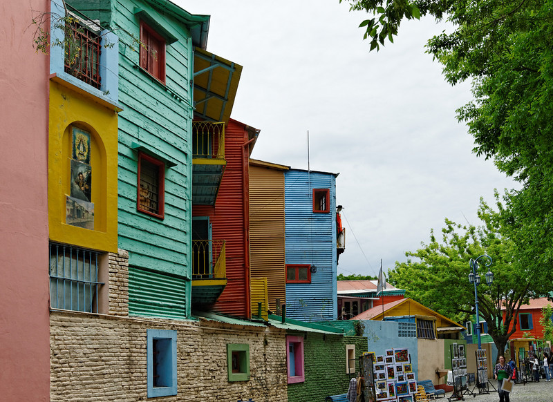 El Caminito, Buenos La Boca, Buenos Aires - Italian immigrants used leftover paint from their ships to paint the houses.