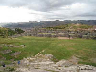 Sacsayhuaman with Cusco in valley