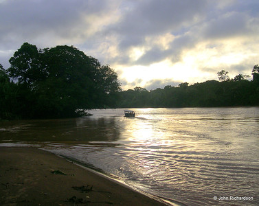 Sunset on Rio Tambopata