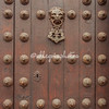 Detail of wooden door, Archbishop's Residence, Plaza Mayor, Lima, Peru