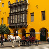 A horse drawn carriage on Plaza Mayor, Lima, Peru