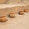 Clay pots at Huaca Pucllana, Lima, Peru