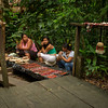Women selling handicrafts near the canopy walk, tropical rainforest, Upper Amazon, Peru