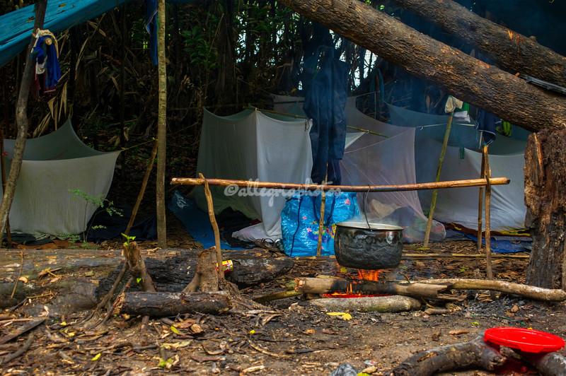 Fisherman's camp, Upper Amazon, Peru