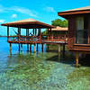 One of the true overwater bungalows