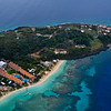 Flying over West Bay Beach & Infinity Bay Resort - that reef is where I would later do my very first dive!