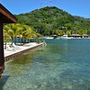 One of the overwater bungalows