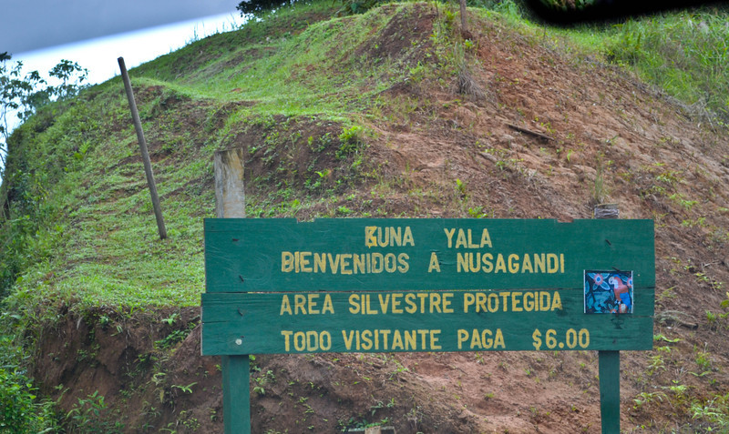 Entering Kuna Yala territory and paying the $6 tax to enter