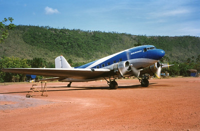 we flew on this DC-3 like Indiana Jones