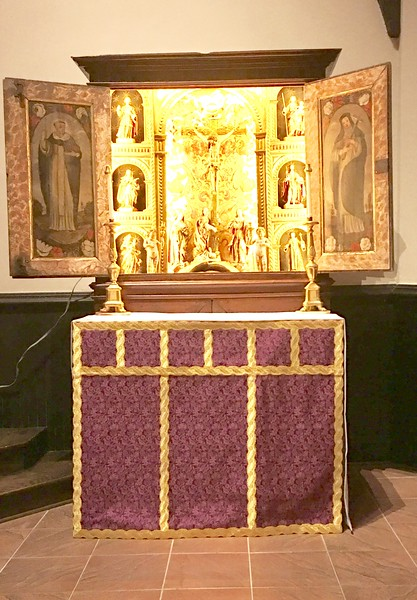 altar with Comper Rose frontal