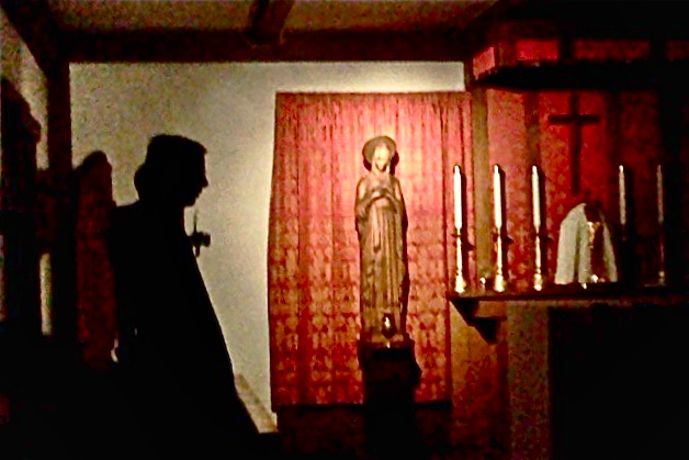 Night prayer in the monastery chapel<br /> Credit: Roseanne T. Sullivan